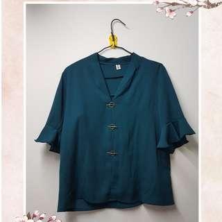 [Used] Green Top 綠色雪紡上衣