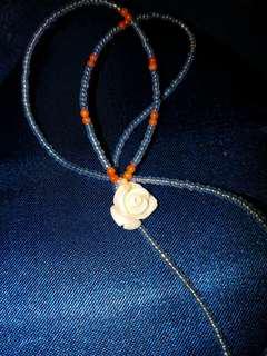 珊瑚玫瑰花小珠仔頸項