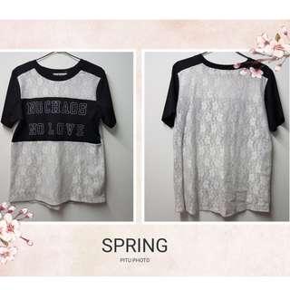 [Used] Black & White Top 黑色拼白色上衣