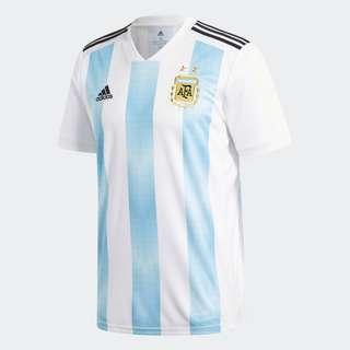 adidas 2018 世界盃 阿根廷 argentina 主場 國家隊 波衫 球衣 美斯 MESSI 球迷版 冇號碼 M碼 中碼 jersey