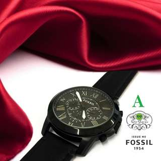 FOSSIL WATCH - FOSSIL MENS LEATHER WATCH - FOSSIL CHRONO