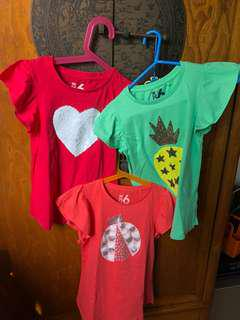 Outgrown Cotton kids shirts in good condition.$12 for 3 pieces