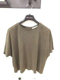 Chalice real suede khaki tee