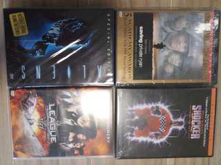 DVD 4隻~ Aliens 異形續集,雷霆救兵,奇幻兵團,shocker電王 (只限九龍灣地鐵站交收或順豐到付)