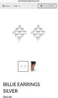 New 925 silver earrings