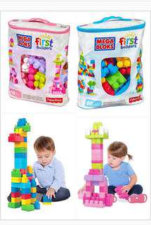 60pcs Mega Bloks First Builders Building Blocks Toy Set