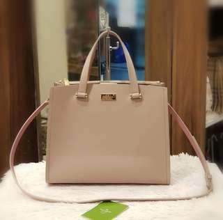 BRAND NEW KATE SPADE TWO WAY BAG (nude) ❤️BIG SALE P16k ONLY❤️ With carecard and long strap Swipe for detailed pics