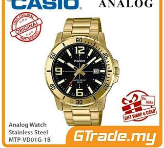 💪💪💪40% Off Brand New Original Casio Men Water Resistance Analog Metal Watch-6折全新行貨卡西欧男裝防水行針鋼婊