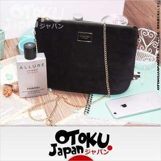 Chanel Makeup 黑色絨面 單膊/斜孭袋 ~ 專櫃VIP贈品