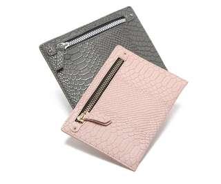 Primark Cardholder 粉紅色灰色卡片袋銀包收納袋八達通套
