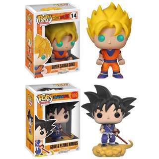 Funko POP Super Saiyan Goku #14, GoKu & Flying Nimbus #109