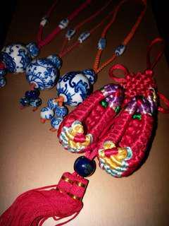 中國吊飾(舊青花瓷)x4