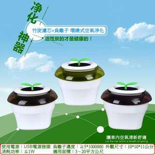 🚚 【天馬行銷】室內/車用 活性碳USB負離子空氣清淨機