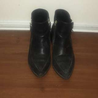 Zara genuine leather boots