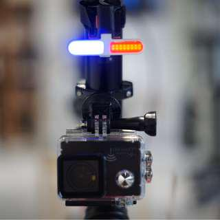 "Warehouse Sale - ""POLICE"" USB RECHARGEABLE SPLASHPROOF LED TAIL LIGHT"