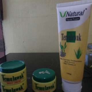 V natural facial foam + 2 night cream + Day cream