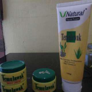 V natural facial foam + 2 night cream + Day cream