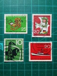 [贈品]1950-70年代 西德 紀念舊票四套