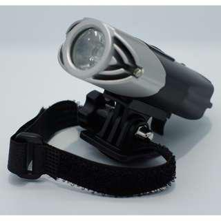 Warehouse Sale - USB RECHARGEABLE BICYCLE FRONT LIGHT -YT T6 (Helmet Mount Included)
