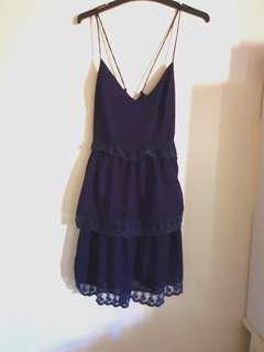TOBI Navy Layered Skater Dress