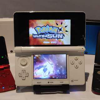 Nintedo 3DS Console + 30 Games + Pokemon Ultra Moon / Sun (Modded / Jailbreak 3ds Game Console)