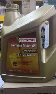 toyota engine oil 5-40