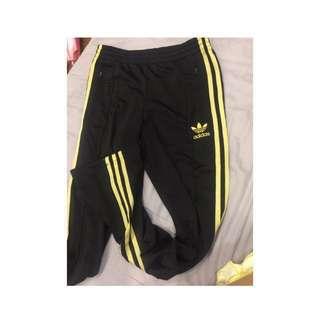 Adidas 愛迪達長褲 黑金三葉草 運動褲 直筒窄管褲 #女裝88