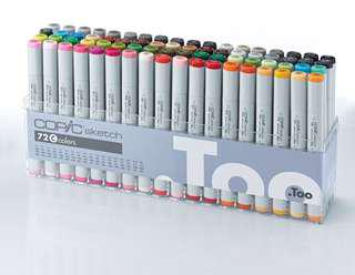 Copic Sketch Markers 72 Set C
