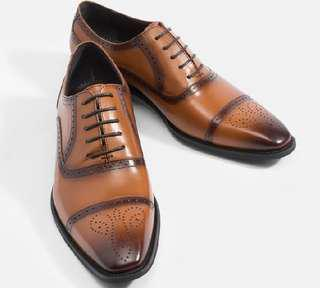 Mac and Gill Oxford laced shoes Derby leather shoes