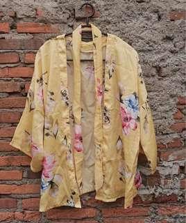 Floral outer kimono