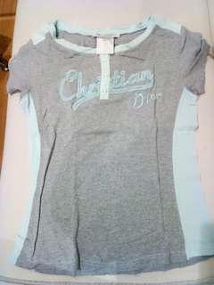 Kaos Christian dior grey tshirt