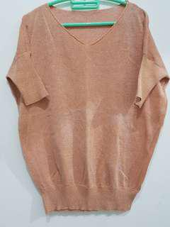 Blouse rajut peach