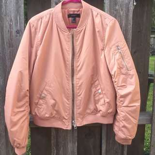 Forever 21 Dusty/Salmon Pink Bomber