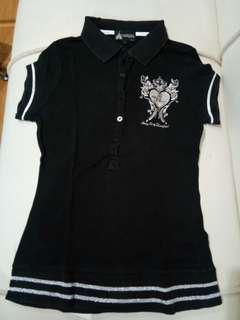 Polo shirt Disneyland black silver