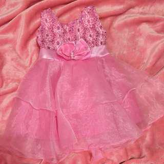 Pink Semi Gown