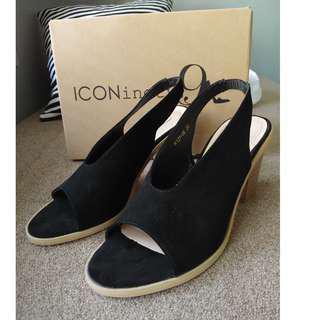 Iconenty9 black high heels