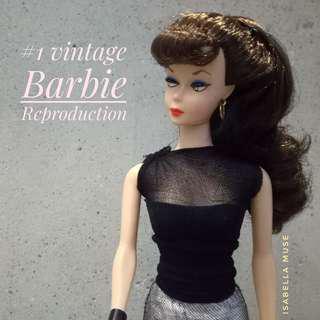 #1 Vintage Barbie Brunette Ponytail Special Edition 1959 Reproduction