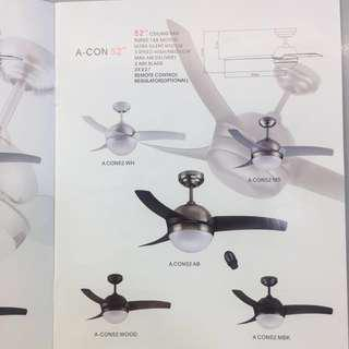 "Acon 52"" Ceiling Fan + Remote Offer"
