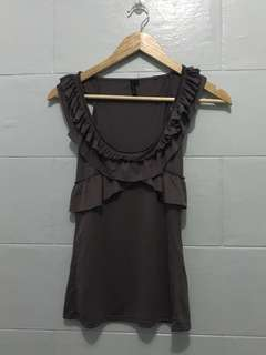 Topshop frilled top | small-medium | P300