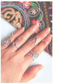 NEW Stacked rings - 6pcs
