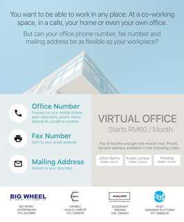 Office Sewa Virtual Office Alamat KL ROC Company Registration Pendaftaran Syarikat Office Sewa Ofis