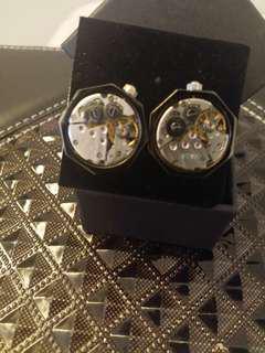 🈹Unique mechanical watch setting cufflinks 獨特八角型陀飛輪 (Haida watch) 袖口鈕