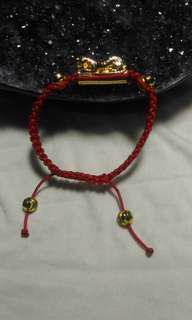 金錢豹💯紅繩手鏈