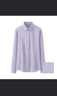 Uniqlo rayon button blouse size M&L