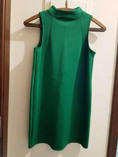 H&M Green Mini Dress
