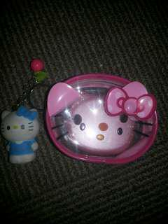 Transparent hello kitty coint purse with chain