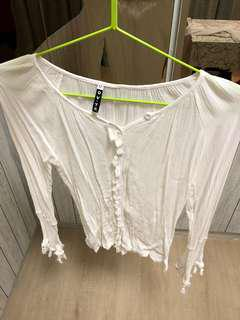 🚚 White lace long sleeves top