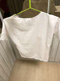 🚚 White lace top new