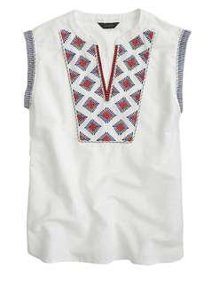 J CREW embroidered sunburst top
