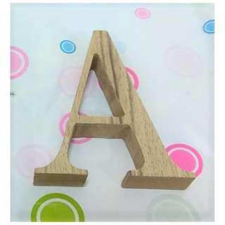 (In-stock) Wood Alphabets